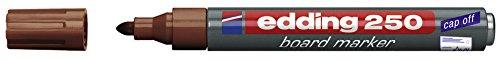 Preisvergleich Produktbild Edding Whiteboardmarker 250, nachfüllbar, 1.5 - 3 mm, braun