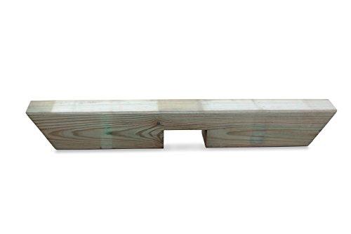 Pergola Einzelreiter aus Holz B9 x H9 x L65 cm