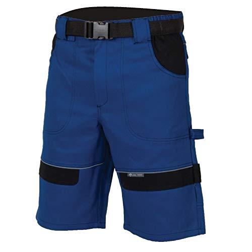 3Kamido Pantaloncini da Uomo, 100% Cotone, Pantaloncini da Lavoro Corti, Pantaloncini da Lavoro Professionali - Molto Resistenti, Pantaloni da Lavoro, Pantaloni da Giardino (52, Blu-Nero)