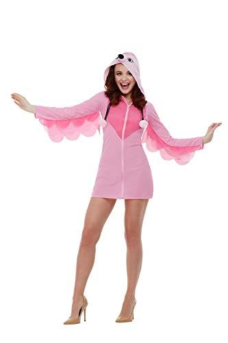 Smiffys 47774M Flamingo-Kostüm, Damen, Rosa, M - Größe 40-42 (Fancy Flamingo Kostüm)