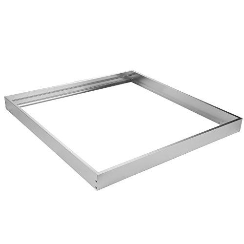OUBO led panel 62x62 Aufbaurahmen Aufputz-Rahmen Deckenmontage Wandmontage Deckeneinbau Deckenbefestigung Set Silber