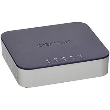 Obihai OBI202-EU Téléphone VoIP FXS/USB/Ethernet Noir