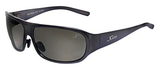Xezo Incognito Titanium-Polarisierte,eng Anliegende Einwegspiegel-Sonnenbrille mit Antireflex-Beschichtung