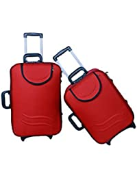 "UNIVERSAL TRAVELLER BAG-LOYAL-SET OF 2 BAGS (RED) 24""+20"""