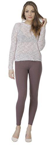 BeLady Damen Leggings Knöchellang aus Baumwolle Blickdichte Leggins Viele Farben (Braun, 8XL - 56)
