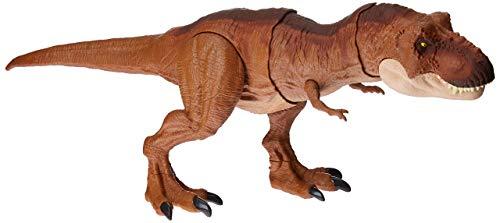 Mattel FMY70 - Jurassic World Schleuderaction Tyrannosaurus Rex, T Rex Dinosaurier Spielzeug ab 4 - Super Awesome Kostüm