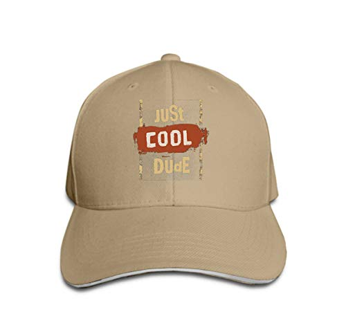 Cowboy Hat Fashion Baseball Cap for Men and Women just cool Dude Motivation Quote Inspiring Typography Grunge Poster Print Concept (Cool Dude Kostüm)