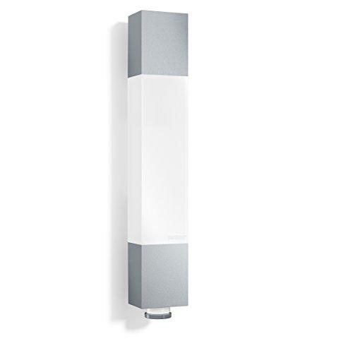 Steinel LED Außenleuchte L 631 LED silber, 8.2 W, 360° Senor, 8 m Reichweite, Unterkriechschutz, Grundlicht, Softlicht
