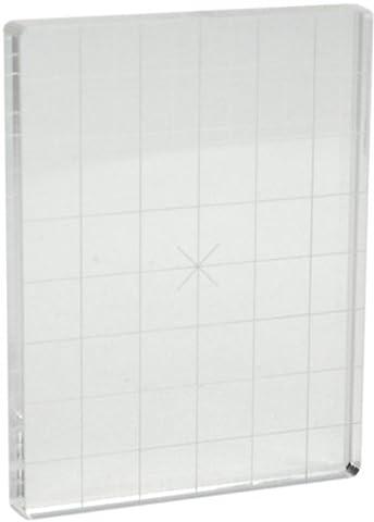 Tarte aux pommes souvenirs acrylique timbre bloc avec alignement grille-3 « X 4 » X.5