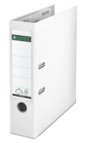 Leitz 10105001 Qualitäts-Ordner Plastik-Cover (A4, 8 cm Rückenbreite) weiß