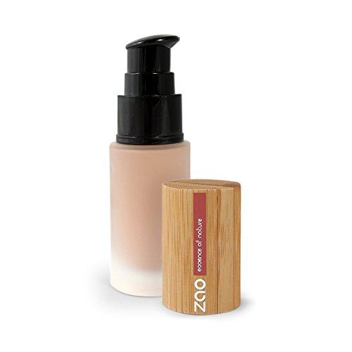 ZAO Liquid Silk 703 rosenblüte beige-rosa Flüssig-Makeup Grundierung Foundation mit Bambus (bio, Ecocert, Cosmebio, Naturkosmetik)