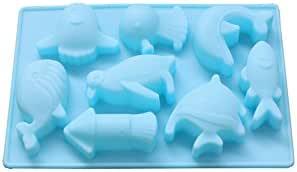 A Meigold Weihnachten Form Rose Schimmel DIY Handmade 3D Form Kuchen Schokolade S/ü/ßigkeiten Kekse Eisw/ürfel Seife Kerzenform Backenwerkzeuge Silikonform size 6.3x6.3x4.7cmm