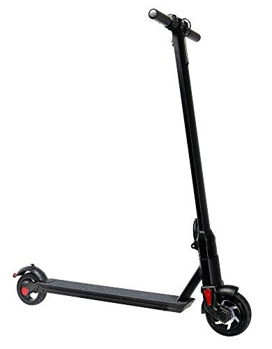 iconBIT Kick TT Scooter (Negro/Rojo), Patinete eléctrico plegable con motor, Negrita S...