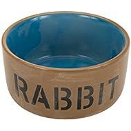 Beeztees 801482 Ceramic Bowl for Rabbit, Blue/Beige, 11.5 cm
