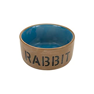 Beeztees 801482 Ceramic Bowl for Rabbit, Blue/Beige, 11.5 cm Beeztees 801482 Ceramic Bowl for Rabbit, Blue/Beige, 11.5 cm 31xhZFzFeYL