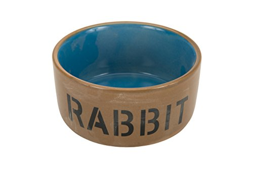 Beeztees 801482 Ceramic Bowl for Rabbit, Blue/Beige, 11.5 cm 1