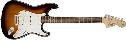 Fender Squier Affinity Series Stratocaster Elektrische Gitarre Brown Sunburst (Elektrische Fender-gitarre Bei)