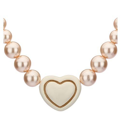 Thun ® - collana old classic l'amour con cuore bianco