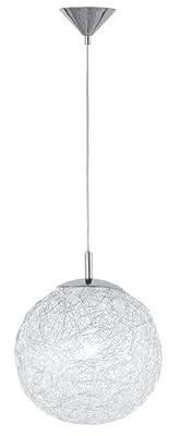 Wofi Pendelleuchte, 1-flammig, ø 30 cm, Abhängung 150 cm, chrom 602101010300 von WOFI LEUCHTEN - Lampenhans.de