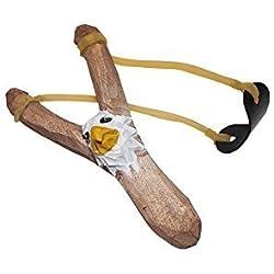 Juguetutto - Tirachinas Águila. Tirachinas de juguete hecho en madera de color marrón y forma de águila... ¿apuntará bien el niño?