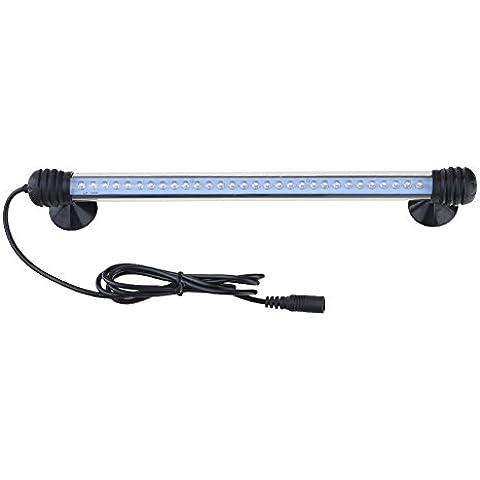 GEEDIAR® 30 LED Lampara Tira Acuario Pecera 2w 28.5cm para Acuarios y Estanques Sumergible Submarino Luz Azul