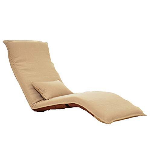 Lazy Sofa, Liegen Sofa Klappstuhl, Multi-funktionale Lazy Sofa, Simple Modern Lazy Sofa, Schlafsessel Sessel, Freizeit Sofa Stuhl (Farbe : Khaki)