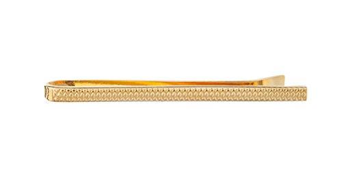 Vintage Gold Teller Krawattennadel mit Industrie Muster-50mm