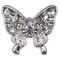 Beauty7 Nail Art 10 Pcs Strass Papillon 3D Premium Alliages Pour Ongle Manucure