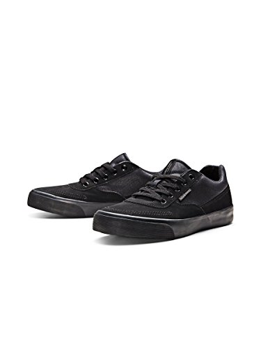 Jack & Jones Jjshark Mixed Low Sneaker Anthracite, Baskets Basses homme Noir - Noir