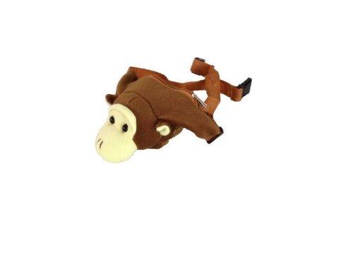 Foxxeo 11019-STD | Affen Gürteltasche Gürtel Tasche Hüftbeutel Affenhüftbeutel braun brauner Hüft Beutel Kindertasche Tasche Affentasche Affenbeutel Affe Kind für Kinder ()