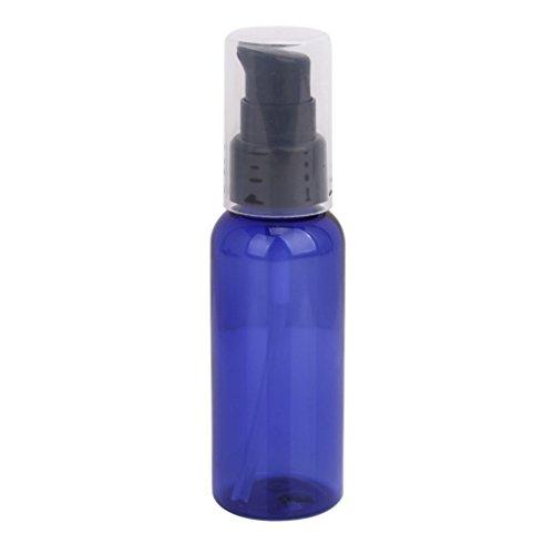 3Pcs Flacons Pompes Vides de Lotion Crème Rechargeables avec Capsule - Bleu