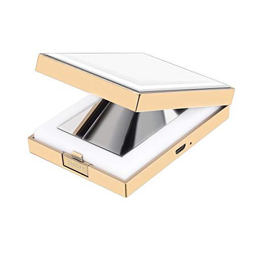 SZRWD Make Up Taschenspiegel, Zweiseitiger Spiegel/Taschenspiegel LED/Vergrößerungsspiegel mit...