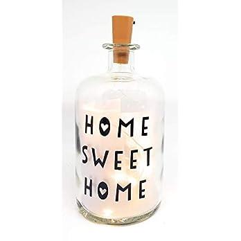 """Leuchtflasche, Flaschenlicht, Bottle light """"Home Sweet Home"""" mit LED Lichterkette. Prima Idee als Geschenk zum…"""