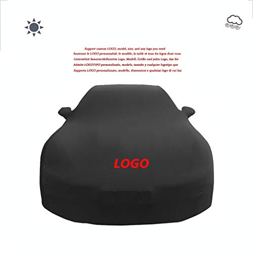 Autoabdeckung Car-Cover, kompatibel mit Audi 80, Schwarz Anpassbare Velvet Stretch Car Cover Indoor Auto Show