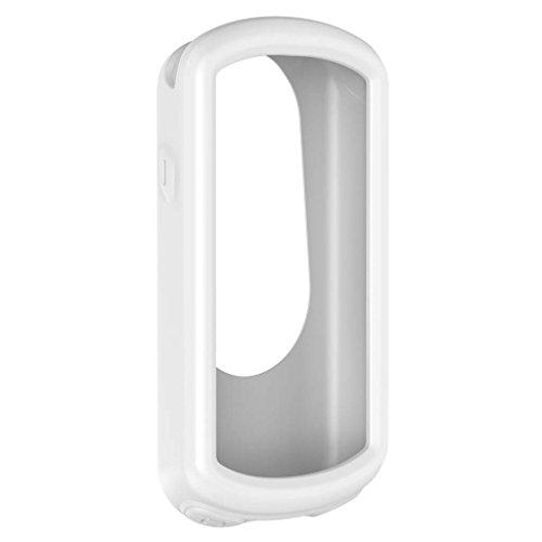 GROOMY Multi-Color Silikon Skin Tasche Hülle für Garmin Edge 1030 GPS Fahrradcomputer - Weiß (Garmin-edge-bands)