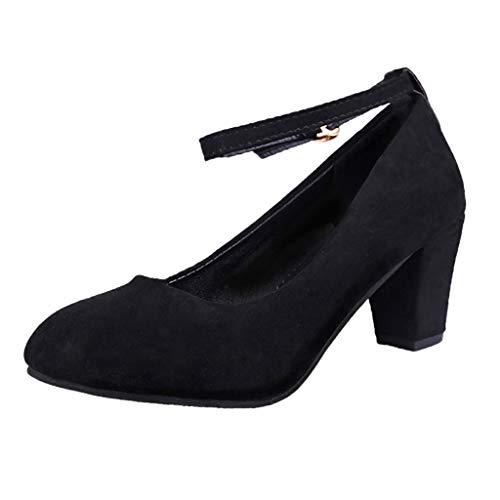 5274012d LILICAT✈✈ Zapatillas Sandalias Zapatos de Baile para Mujer Zapatos de Baile  Salsa Performance Sexy Lady Sexy Cabeza Redonda con Zapatos de Boca Baja  Negro ...