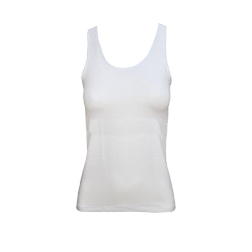 canotta donna spalla larga JADEA cotone elasticizzato art. 4182 Bianco