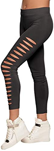 NET TOYS Attraktive Cut Out Leggings   in Größe M (40 42)   Lässige Damen-Tights Aerobic Damenleggings mit Rissen...