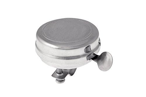 Ring Ring Retro 3834 Klingel aus verchromtem Stahl, Silberfarben, klassischer Vintagelook