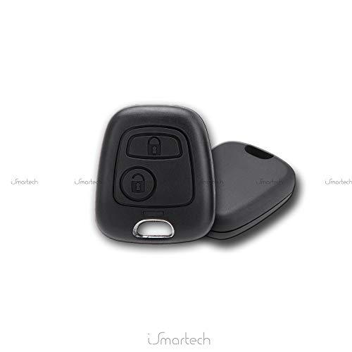 Smartechnology - Coque de clé pour télécommande voiture Toyota Aygo - 2 boutons