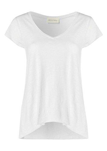 American Vintage pour Femme Jacksonville à Manches Courtes T-Shirt en Gris chiné - Blanc -