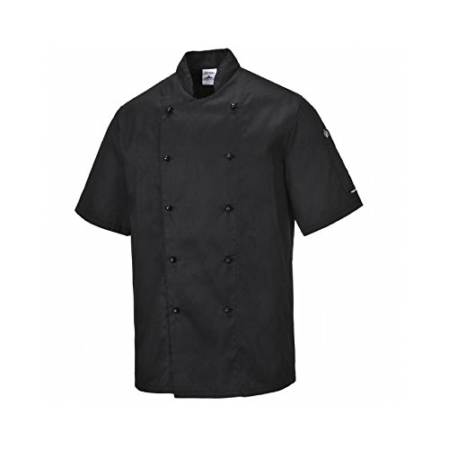 Veste Portwest C734Chemise Kent cuisinier, C734WHRS Blanc