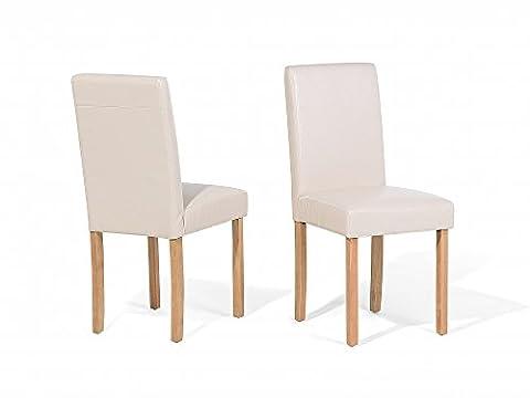 Dining Chair - Kitchen Chair - Faux Leather - Beige - (Broadway Sala Da Pranzo)