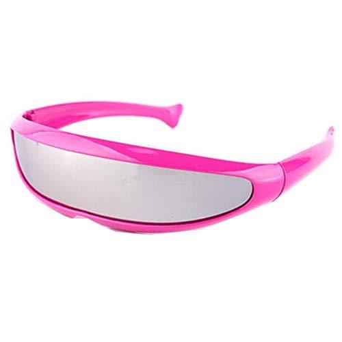 LKHJ Sonnenbrillen Herren Sonnenbrillen Persönlichkeit Laser Brille Coole Roboter Sonnenbrille Driving Sunglass Goggles