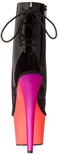 Pleaser Rainbow-1018uv7, Sandales Bout Ouvert Femme Multicolore (Blk Pat/Neon Multi)