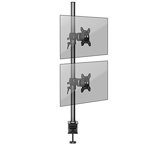 Duronic DM352V2X1 Monitorhalterung / Tischhalterung / Monitorarme / Monitorständer für LCD/LED Computer Bildschirme / Fernsehgeräte mit Neig-, Schwenk- und Rotierfunktion