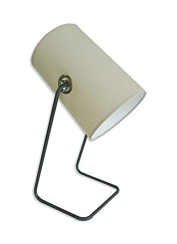 Desktop-typ (Moycor Beleuchtung Stehleuchte Desktop Typ Spot mit Stoff braun und Eisen, 18x 20x 46cm)