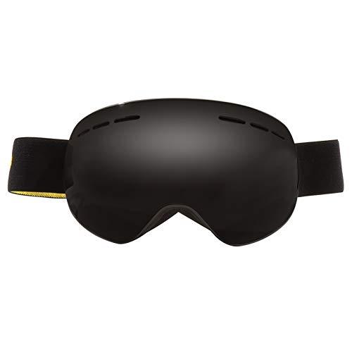 KnBoB Skibrille Quattroflex Herren Motorradbrillen Für Biker Sportsonnenbrille Fahrrad Schwarzer Rahmen Grau