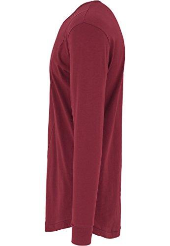Urban Classics TB1101 Herren Langarmshirt Shaped Fashion Long Sleeve Tee Burgundy