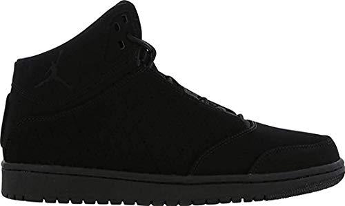 Nike Bambini Jordan 1 Volo 5 Junior Bambini Bg Scarpe da Ginnastica in Pelle Nera 881440 010 UK 3.5 EUR 36 USA 4Y